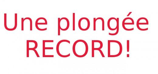 plongée record