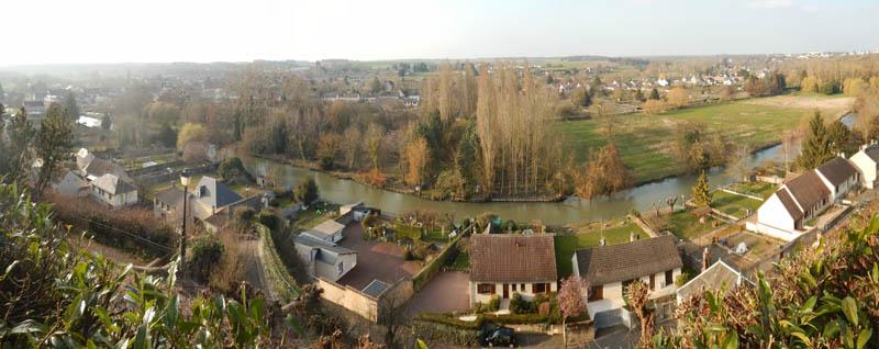 le Loir vu du château